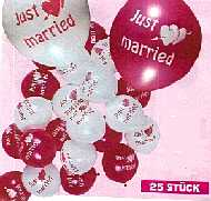 Just married Luftballons